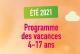 Accueil de loisirs d'été du 12 juillet au 6 août 2021